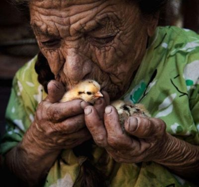 conversations compassion old man with chick
